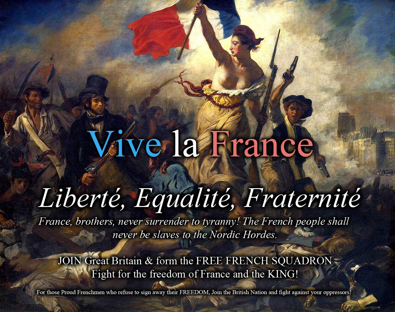 Assez Liberté, égalité, fraternité. FREE FRENCH! - National news  AA45
